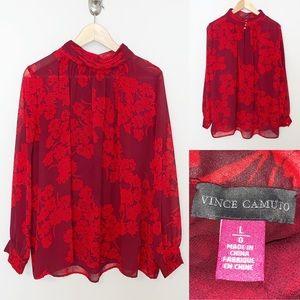 Vince Camuto 9166034 Floral Print Blouse - SZ Lg